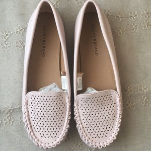 Light pink loafers